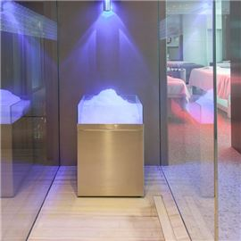 ice fountain - Shiseido Spa Milan